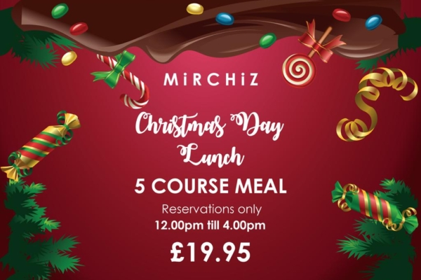 Mirchiz York - Christmas 5 Course Meal